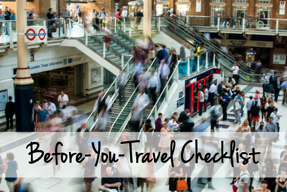 Move By Yourself: Before-You-Travel Checklist
